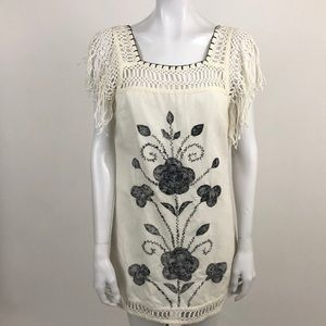 Free People 2 Mexican Embroidered Shift Dress